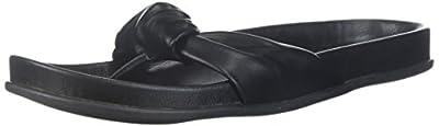 Very Volatile Women's Glaze Slide Sandal, Black, 9 B US