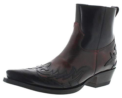 Sendra Boots 16698 Rojo - Stivaletti da uomo in pelle, colore: Nero, Nero ( Rojo.), 48 EU