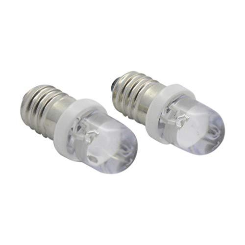 Ruiandsion 10 st E10 LED-lampa F5 1 LED DC 6 V 20 LM vita LED-lampor för ficklampa