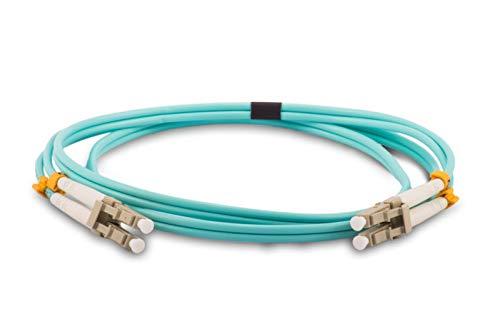 OM4-LC-LC-20M-Aqua - Cable Fibra óptica dúplex LSZH