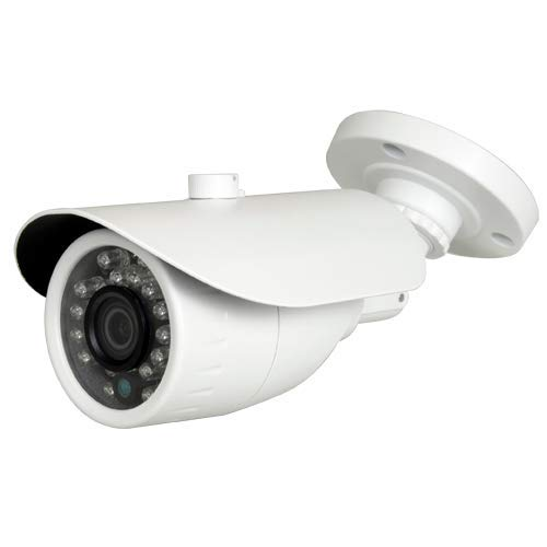NIVIAN- Cámara Falsa metálica Tipo Bullet,  réplica de cámara Real,  Dummy Cámara de Seguridad Vigilancia Falsa Impermeable # Corona Leds IR Reales -  Fake Cámara Simulada CCTV
