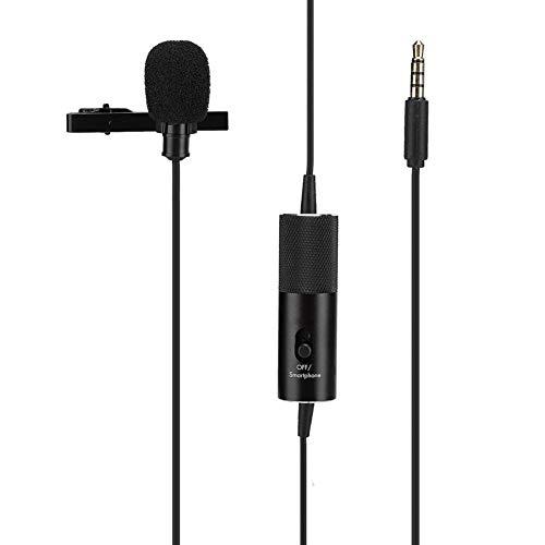 Professionele lavalier-microfoon, universele bekabelde kraagclip Condensatormicrofoon Mini Studio Audio-microfoon voor lesgeven, zakelijke bijeenkomst, camera-opname