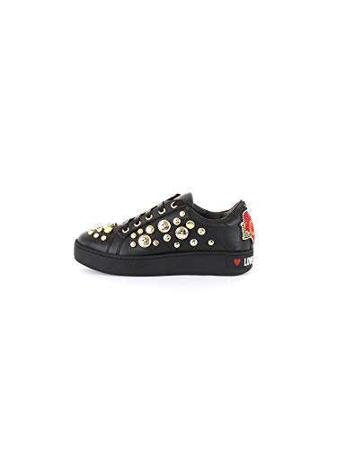 LOVE MOSCHINO chaussures pour femmes baskets JA15103G18IB0000 taille 39 Noir / or