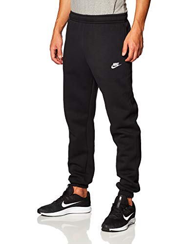 Nike Mens Sportswear Club Fleece Sweatpants, Black/White, L