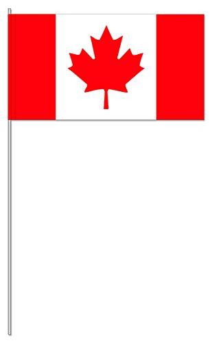 10 Fähnchen * KANADA * als Deko für Mottoparty oder Länder-Party // Flaggen Fahnen Papierfahnen rot weiss canada