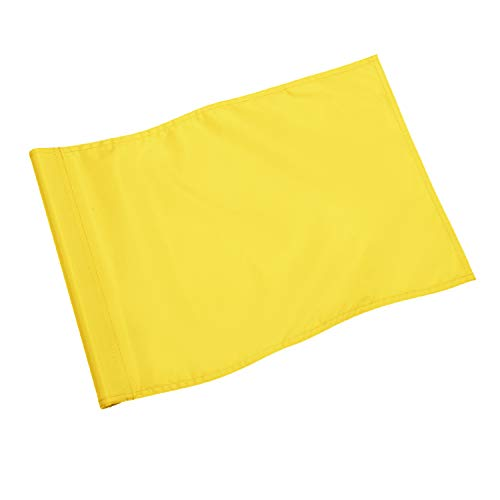 KINGTOP Solid Golf Flag with Plastic Insert, Putting Green Flags for yard, Indoor/Outdoor, Garden Pin Flags, 420D Premium Nylon Flag, 13 L x 20 H, Yellow