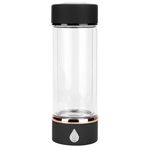 Asixxsix Máquina de Agua de hidrógeno, generador de Agua de hidrógeno de Carga USB, Taza portátil de 380 ml 700-1000ppm para el hogar