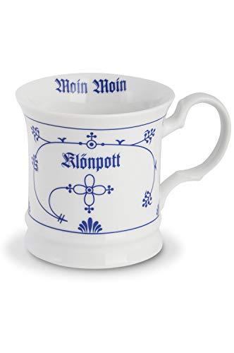 CUP+MUG Kaffeebecher Porzellan Indisch Blau