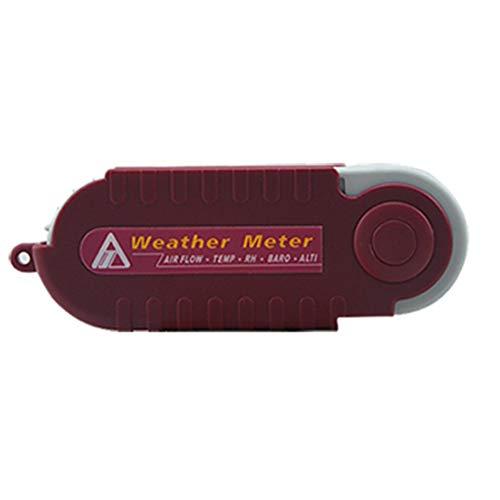 Zcyg Anemómetro Medidor Velocidad Viento Medidor de Viento Digital con Velocidad del Viento, Temperatura, Humedad, índice de frío del Viento, presión del Aire, índice de Calor, medición de Altura