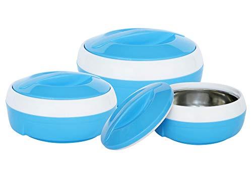 Princeware Solar Plastic Casserole Set, 3-Pieces, Blue
