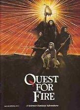 Quest for Fire 1982 original movie program - NOT A DVD