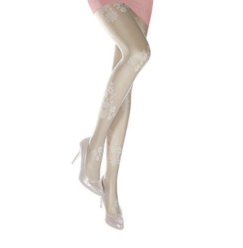 Sympatico Fashion Strumpfhose FIONA 20 DEN Color ivory, Size XXL