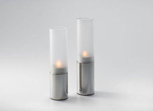 Unbekannt Windlicht Set Chrom-Glas