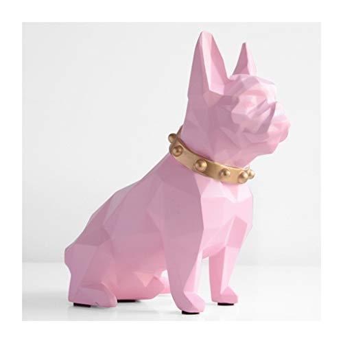 NYKK Contador Digital de Hucha Resina Cachorro Piggy Bank Dogo Lindo Monedas Caja del Ahorro de Dinero Escritorio del hogar Decoración del Ornamento Gran Regalo Banco de Dinero (Color : Pink)