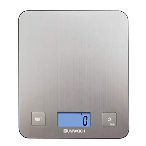 Bilancia da cucina digitale con raschietto per pasta, bilancia da cucina multifunzione ad alta precisione con rivestimento resistente alle impronte digitali, / 5 kg di bilancia da forno / inferiore an