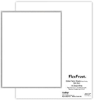 Oasis Supply Magic FlexFrost Edible Image Fabric Icing Sheets - 20 Pack, Silk