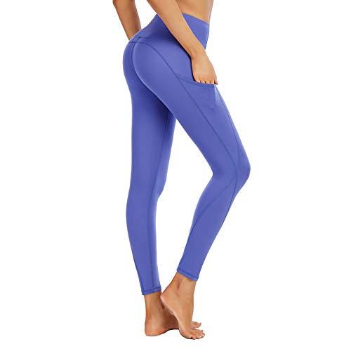 GHQYP Fitness Vientre Plano Leggins Mujer,Calcetines Yoga,Mallas Elásticas Deportes Correr Pantalones hasta la Pantorrilla,Girl~L