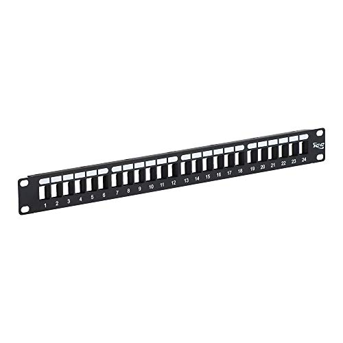 ICC Blank Patch Panel with 24 Ports for HD Style in 1 RMS