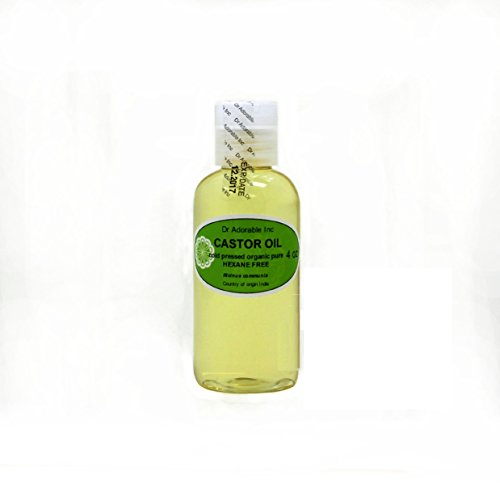 Castor Oil Pure Organic Cold Pressed Virgin by Dr.Adorable 4 Oz