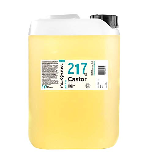 Naissance Huile de Ricin BIO (n° 217) Pressée à froid - 5 litres – 100% pure, certifiée BIO, vegan, sans hexane, sans OGM