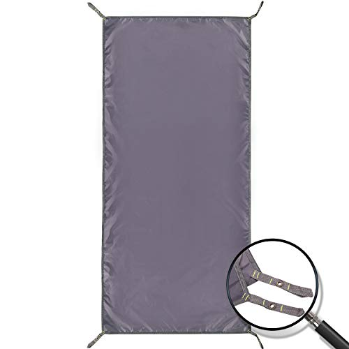 REDCAMP Waterproof Camping Tent Tarp - 36 x83 , 4 in 1 Multifunctional Tent Footprint for Camping, Hiking and Survival Gear, Lightweight and Compact