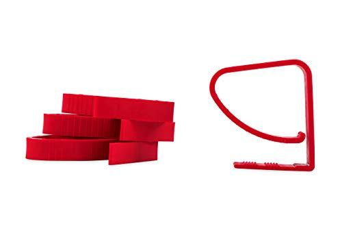 Camco 44003 Tischdeckenklammern für Caravan, Rot, 4 Stück