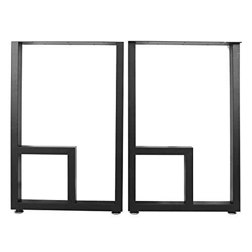 Pata de mesa de hierro forjado, piezas de repuesto para mesa de consola lateral de café de estilo rústico industrial, adecuadas para todo tipo de madera, combinan con cualquier esquema de color