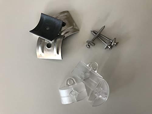 Set aus je 100 Stück Kalotten & Abstandhalter & Spengler-Schrauben TX20 EPDM-Dichtscheiben 4,5x45mm für Trapez-Sinus Profil 76/18 Wellplatten PMMA Acrylglas