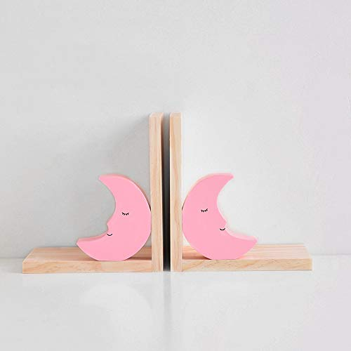 Good day Holz Buchstützen Buch Kreative Bücherregal Studie Büro Dekoration Ornamente Kinder, pinkmoon