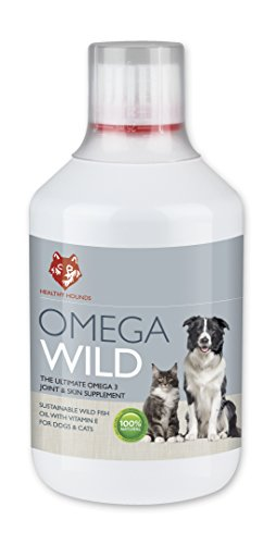 Healthy Hounds Omega Wild Fish Oil For Dogs, Pets Best For Joints, Skin, Coat, Heart | With Essential Vitamin E | Higher Omega 3 Than Salmon Oil | Super Premium 500ml