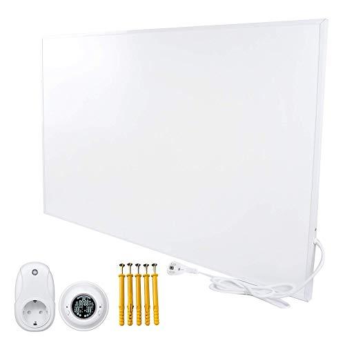 Bringer Infrarotheizung Infrarot Wandheizung Heizung Heizkörper Thermostat (450 Watt, Heizplatte und Thermostat mit Fernbedienung (BRTF))