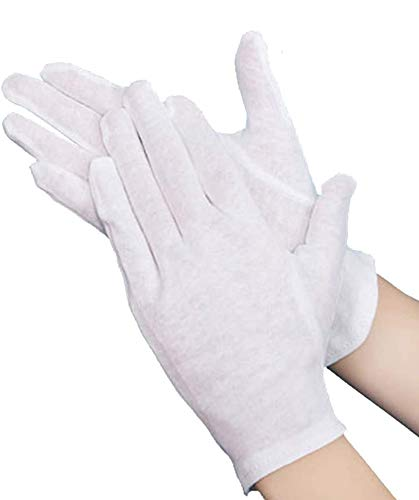 コットン手袋 薄の綿手袋 30枚入 純綿100% コトン綿製 白手袋 手荒れ 薄手 ハンドケア手袋 インナー スムス...