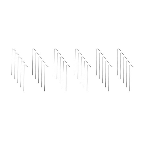 """Super Z Outlet 9"""" Galvanized Non-Rust Silver Metal Anchors Tent Stakes Pegs for Outdoor Camping, Soil Patio Gardening, Canopies, Landscaping Trim, Sporting Events (30 Pack)"""