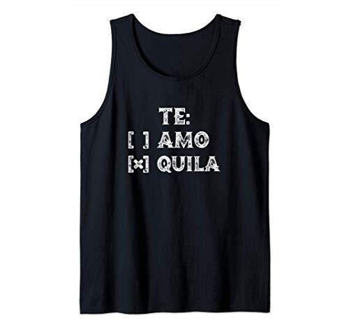 Te Amo Tequila Divertido Humor de beber español mexicano Camiseta sin Mangas