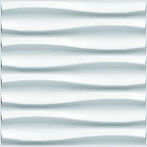 3D Wall Decor Brandy Panel 3D Bambu Blanco 24 Piezas c/u 50cm x 50cm (6 Metros Cuadrados)