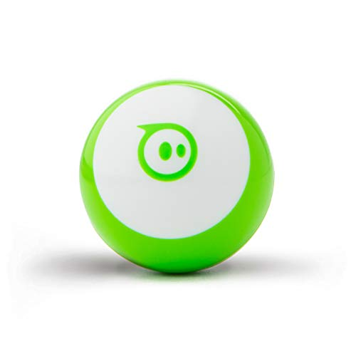 """Sphero Mini (Green) App-Enabled Programmable Robot Ball - STEM Educational Toy for Kids Ages 8 & Up - Drive, Game & Code with Sphero Play & Edu App, 1.57"""", Green"""