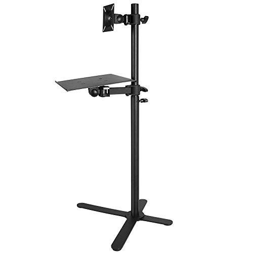 dehong Rostfreier Stahl Monitor Laptop Halterung für 12—27 Zoll LED, LCD, OLED, Plasma TVs,Schwarz TV Ständer...