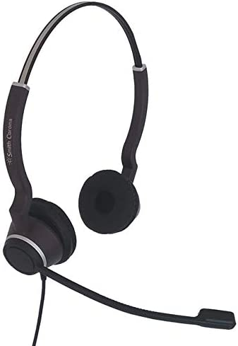 new arrival Panasonic Certified SC Clearwire Duo HD new arrival Headset 2.5MM Curly Cord Direct Connection online sale to Panasonic KX-T Series Telephones - Bundle Offer Includes Headset Storage Bag Extra Ear Pad sale