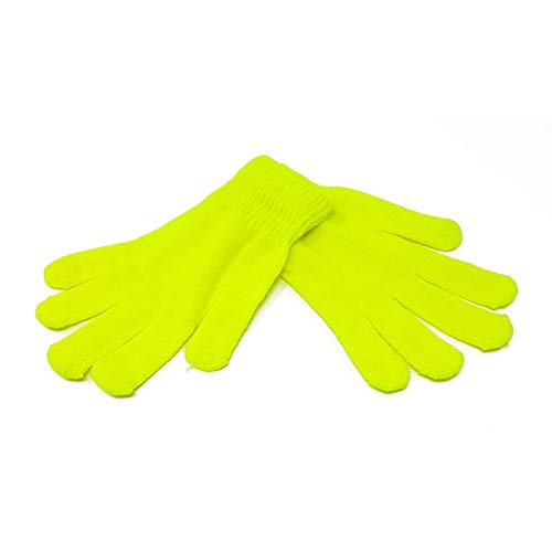 Adults Magic Winter Gloves Neon Yellow