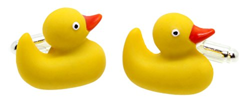Bluebubble DUCKS GO QUACK Rubber Duck Cufflinks With FREE Gift Box
