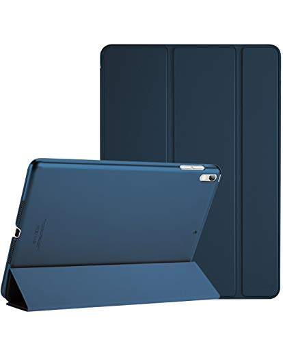 ProCase iPad Air 10.5' (3rd Gen) 2019 / iPad Pro 10.5' 2017 Smart Case Cover - Ultra Slim Lightweight Stand Case with Translucent Frosted Back, with Auto Sleep/Wake –Navy blue