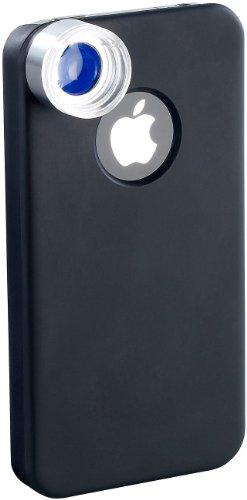 Somikon iPhone-Linsen-Adapter: Mikroskop für iPhone 4/4s mit 50-facher Vergrößerung (Vorsatzlinsen für iPhone 4)