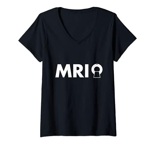 Mujer Obsequio de imágenes médicas de radiología de tecnólogo Camiseta Cuello V