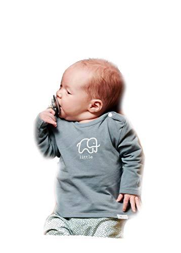 Noppies Baby Kinder Unisex Langarmshirt Wickelform Jungen & Mädchen (Dark Green (C185), 50)