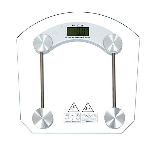 DHTOMC Bilancia pesapersone elettronica, corpo umano digitale, a LED, scala di peso, senza fili, con sensori ad alta precisione