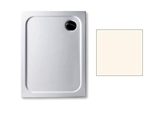 Acryl Duschwanne 100 x 75 cm Farbe: PERGAMON superflach 2,5 cm rechteckig Dusche/Duschtasse/Brausewanne