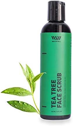 Tea Tree Face Scrub Face Exfoliator with Tea Tree Oil and Jojoba Beads Soothes Skin Facial Scrubs product image