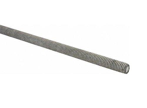 Steel Fully Threaded Rod, Galvanized, 3/4'-10 Thread Size, 72' Length, Right Hand Threads
