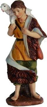 Unbekannt Krippenfiguren Hirte mit Schaf auf Schulter, für 15cm Figuren