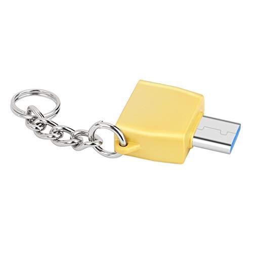Xmiral Adattatore convertitore Adattatore di Ricarica Portatile Mini Dati da Tipo C a USB 3.0 (M,Oro)